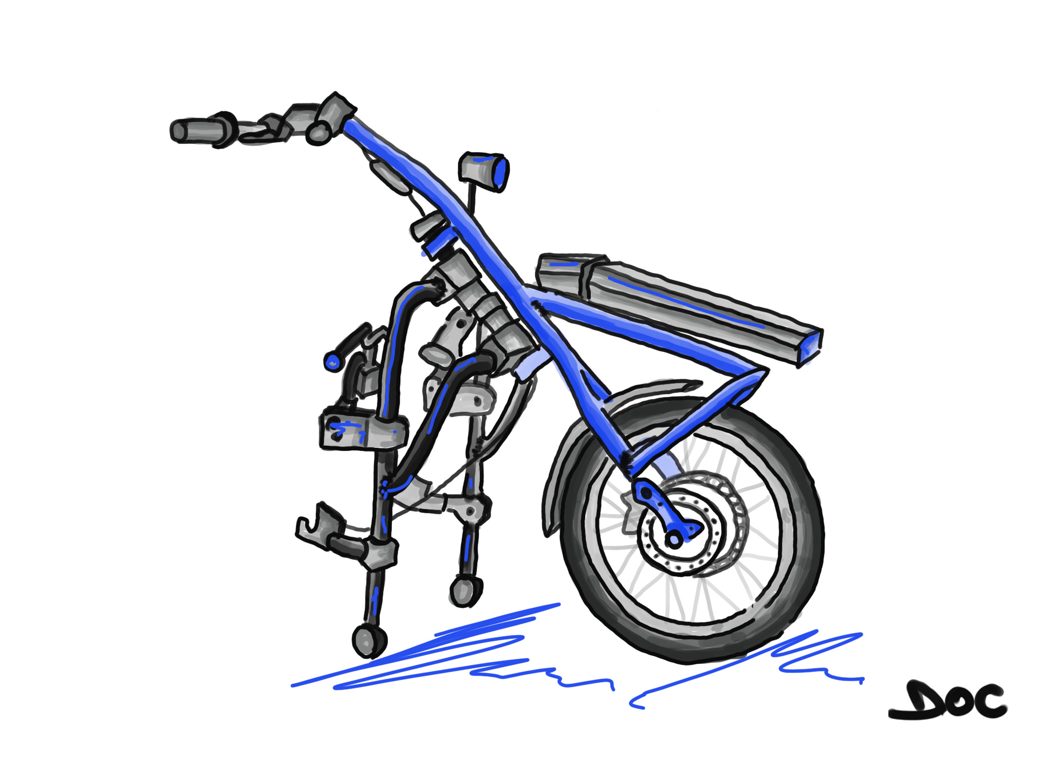 Q9 Trike – Wheelchair Attachment