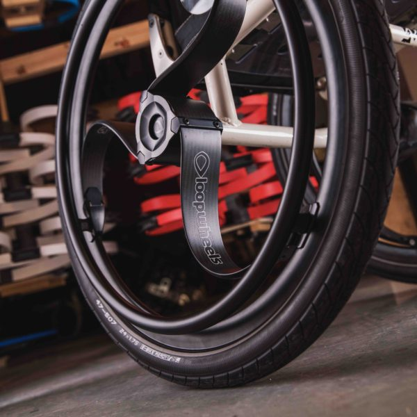 Loopwheels carbon fibre wheelchair wheels at their manufacturing facilities in Boughton.