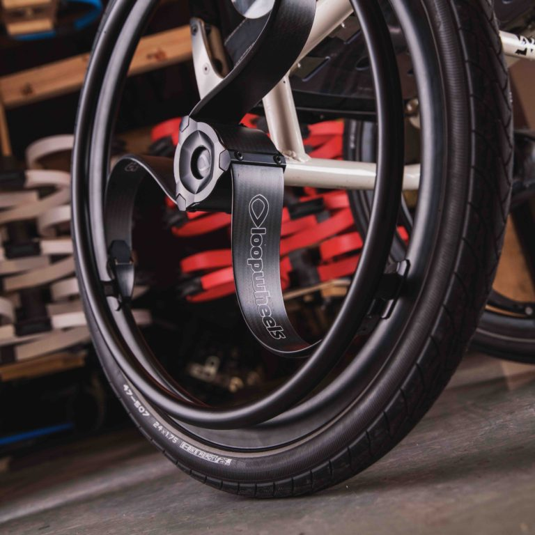Loopwheels carbon fibre wheelchair wheels at their manufacturing facilities in Boughton.