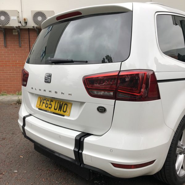 White Seat Alhambra with a wheelchair access ramp hidden within the rear bumper.