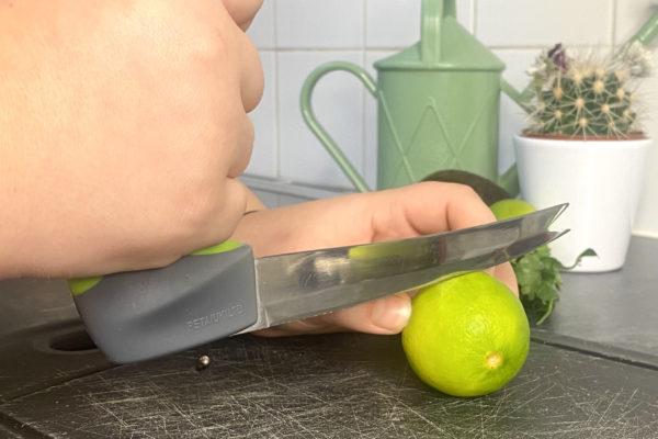 Grey & Green Easi Grip Knife